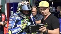 Pembalap Movistar Yamaha, Valentino Rossi bersama sahabatnya, Alessio Salucci atau Uccio (Foto: Doc  Movistar Yamaha)