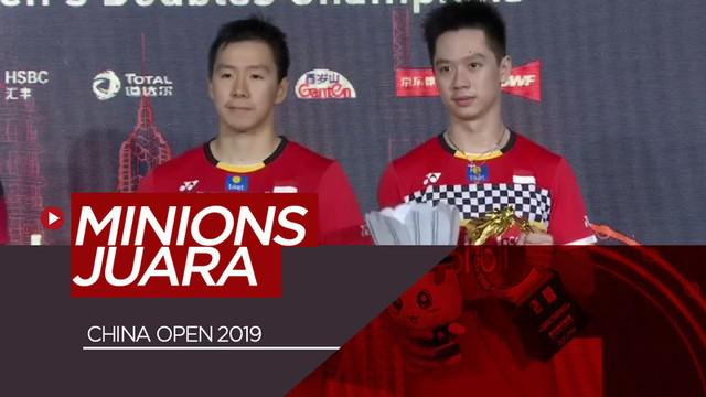 Berita video momen Marcus Gideon / Kevin Sanjaya menjuarai China Open 2019 setelah pada partai final mengalahkan ganda putra Indonesia lainnya, Mohammad Ahsan / Hendra Setiawan atau yang dikenal dengan julukan The Daddies, Minggu (22/9/2019).