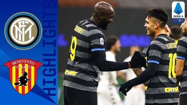 Berita video highlights pada pekan ke-20 Liga Italia 2020/2021 antara Inter Milan melawan Benevento yang berakhir dengan skor 4-0, Minggu (31/1/2021) dinihari WIB.