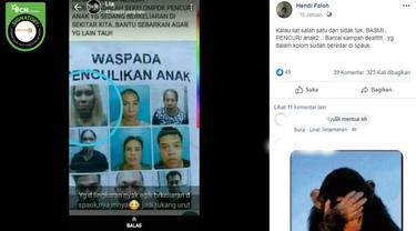 [Cek Fakta] Gambar Tangkapan Layar Berita Tentang Penculikan Anak