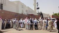 Parit raksasa di Masjid Sab'a, Madinah, Arab Saudi sejak zaman Rasulullah Nabi Muhammad SAW. (Dream)
