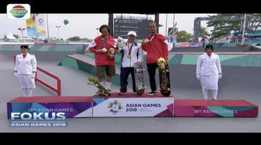 Atlet skateboard Indonesia, Sanggoe Darma Tanjung dan Jason Dennis bawa pulang dua medali perak sedangkan Pevi Permana Putera dapatkan medali perunggu.