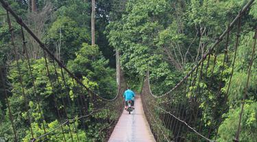 Jembatan Gantung Menuju Hutan Adat