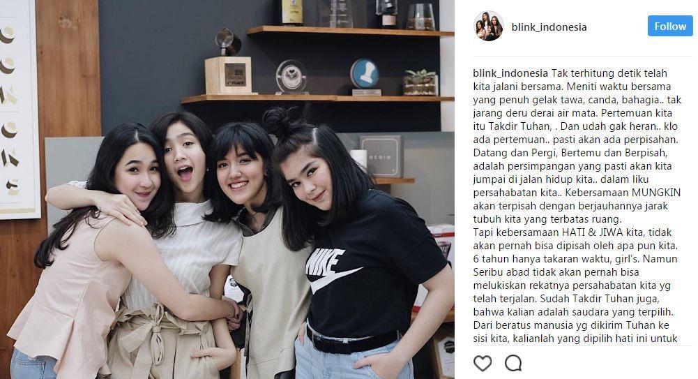 Grup vokal Blink resmi bubar? [foto: instagram.com/blink_indonesia]
