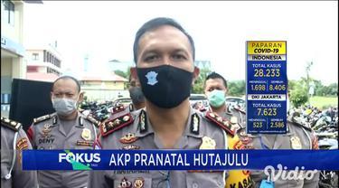 Sebanyak 302 unit kendaraan roda dua dengan knalpot brong berhasil dijaring petugas Ditlantas Polda Jawa Timur, saat pemberlakuan PSBB di Kota Surabaya, seluruh kendaraan disita saat melintas di jalan protokol dan di sejumlah jalan permukiman warga.