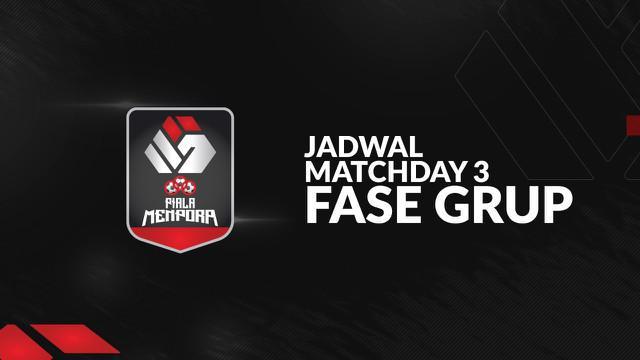 Berita motion grafis jadwal Piala Menpora 2021 matchday ke-3, Persija Jakarta hadapi Bhayangkara FC.