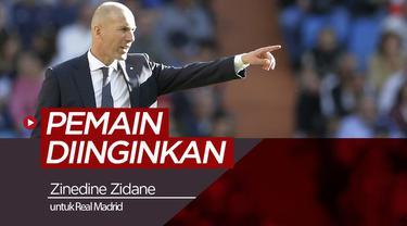 Berita video beberapa pemain yang diinginkan Zinedine Zidane untuk Real Madrid.