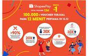 ShopeePay, penyedia layanan pembayaran digital yang mudah, aman, dan memuaskan, menutup tahun 2020 dengan kampanye ikoniknya, ShopeePay Semua Rp1 dengan Total Voucher 12M yang berlangsung dari tanggal 1 - 12 Desember.