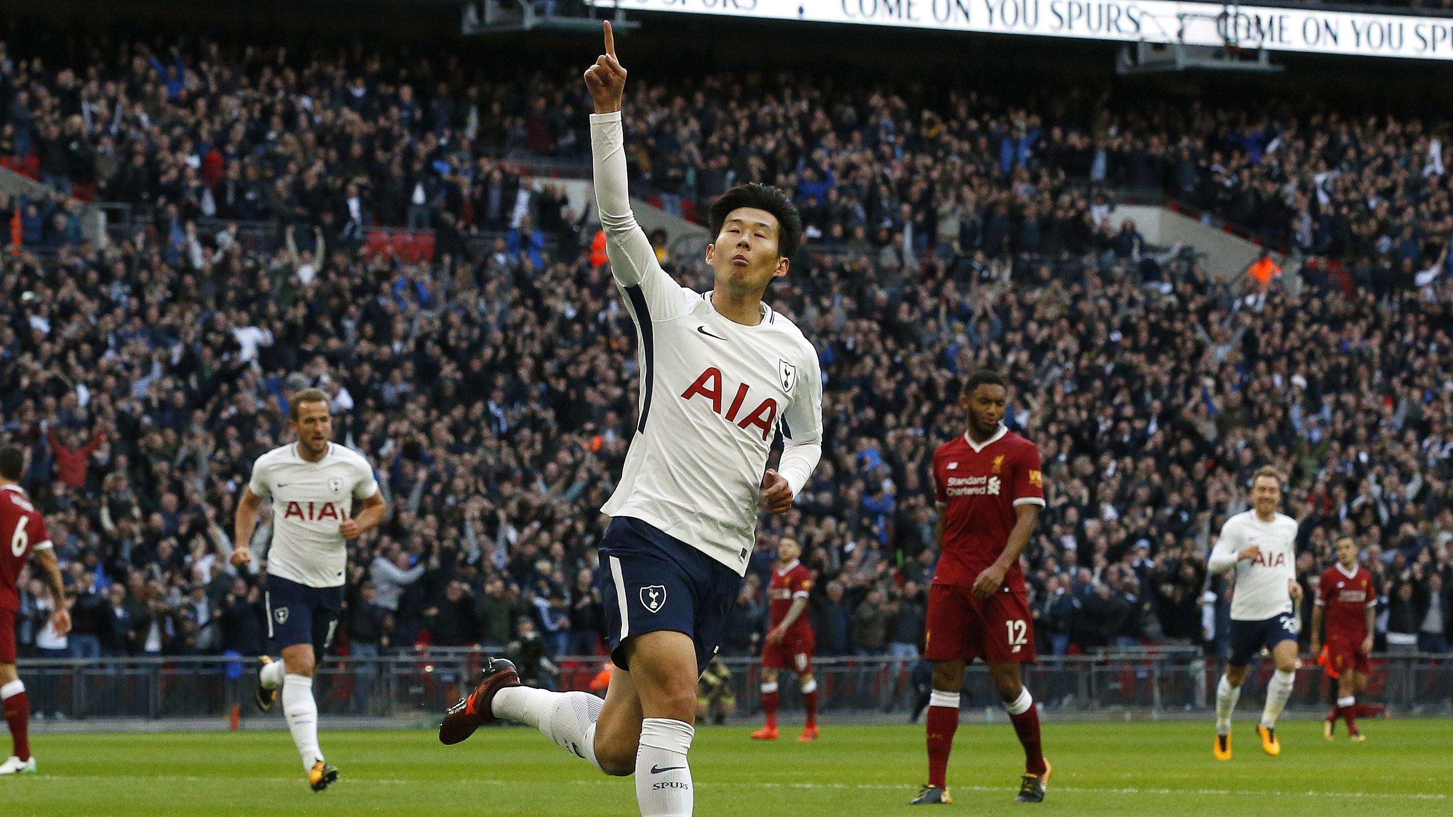 Pemain Tottenham, Son Heung-min (AP/Frank Augstein)