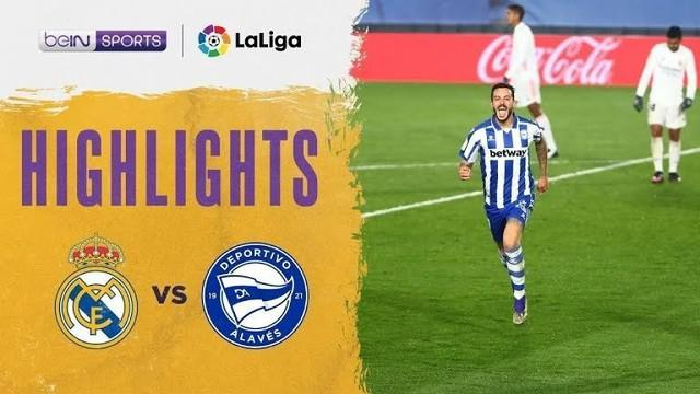 Berita video highlights pekan ke-11 Liga Spanyol 2020/2021 antara Real Madrid melawan Deportivo Alaves yang berakhir dengan skor 1-2, Minggu (29/11/2020) dinihari WIB.
