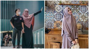 Tersebar Foto Tanpa Hijab, Ini 6 Potret Serell Thalib Istri Taqy Malik Pakai Cadar
