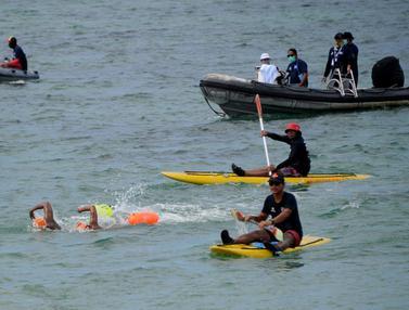 FOTO: Sempat Ditunda, Oceanman Bali 2021 Akhirnya Sukses Digelar