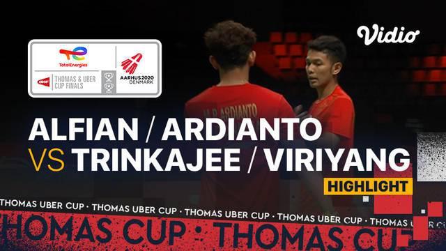 Berita video highlights pertandingan keempat Indonesia vs Thailand di Grup A Piala Thomas 2020, di mana Fajar Alfian / Muhammad Rian Ardianto meraih kemenangan mudah, Senin (11/10/2021) malam hari WIB.
