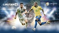 Banner Infografis Final Copa America 2021 Argentina vs Brasil (Liputan6.com/Abdillah)