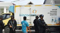 Mobil box pembawa vaksin Covid-19 yang tiba di Pekanbaru beberapa hari lalu. (Liputan6.com/M Syukur)
