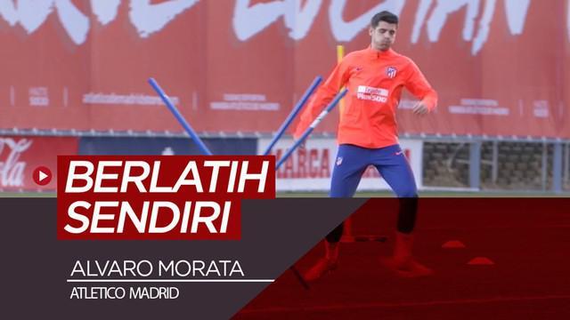 Berita video Alvaro Morata sudah menjalani latihan individual di Atletico Madrid pada Senin (28/1/2019).