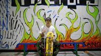 Ryusei Ouchi, pemain skateboard tunanetra dari Jepang. (REUTERS/Issei Kato)