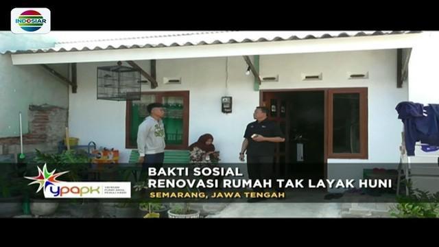 YPAPK bekerjasama dengan Kemensos, renovasi empat rumah yang menjadi korban banjir rob di kawasan Kelurahan Trimulyo, Genuk, Kota Semarang.