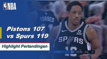DeRozan dan Aldridge bergabung untuk 51 poin dalam kemenangan melawan Pistons 119-107.