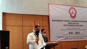 Kongres Advokat Indonesia Targetkan Angka Pelanggaran Hukum di Tangsel Turun