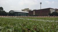 Penampakan markas baru Bhayangkara FC, Stadion Perguruan Tinggi Ilmu Kepolisian (PTIK), Jakarta Selatan.