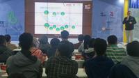 Badan Ekonomi Kreatif (BEKRAF) melalui program BEKRAF For Pre-Start Up (BEKUP) 2019 memberikan pendampingan kepada calon pendiri start up di tiga kota terpilih, yakni Bandung, Yogyakarta, dan Depok. (Liputan6.com/ Switzy Sabandar)