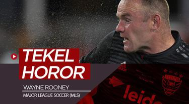 Berita video momen mantan striker Manchester United, Wayne Rooney melakukan tekel mengerikan di MLS (Major League Soccer).