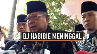 Presiden ke-6 RI, Susilo Bambang Yudhoyono, hadir ditemani putra keduanya, melayat ke rumah duka Presiden ke-3 RI Baharuddin Jusuf (BJ) Habibie di Jalan Patra Kuningan XIII Blok L XV Kav 5, Kuningan, Jakarta Selatan.