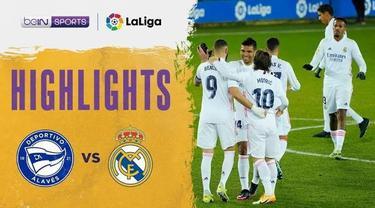 Berita video highlights laga pekan ke-20 Liga Spanyol 2020/2021 antara Real Madrid melawan Deportivo Alaves yang berakhir dengan skor 4-1, Minggu (24/1/2021) dinihari WIB.