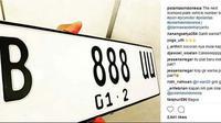 Pelat nomor berlatar putih (Instagram/polantasindonesia)