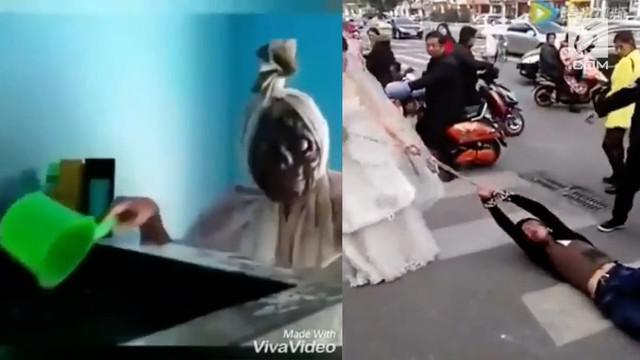 Video Hit kali ini menghadirkan berita dari pocong yang mandi, pengantin pria yang diseret, dan hujan uang di ATM.
