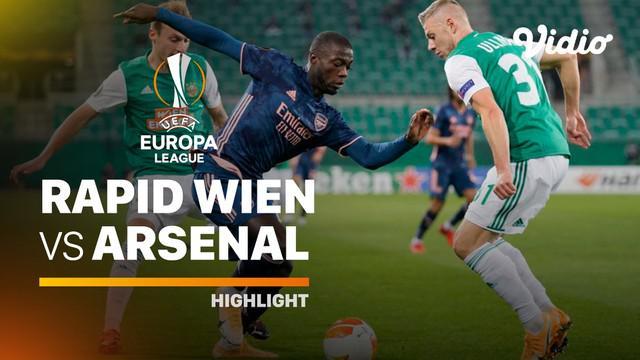 Berita video highlights Liga Europa, Arsenal menang 2-1 atas Rapid Wien, Kamis (22/10/20)