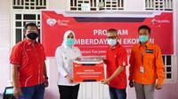 Program Desa Berdaya dari Telkomsel-Rumah Zakat saat diresmikan oleh Wakil Wali Kota (Wawako) Palembang Fitrianti Agustinda di Kelurahan 8 Ilir Palembang (Dok. Humas Telkomsel Palembang / Nefri Inge)