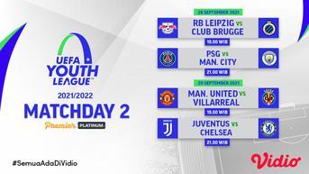 Link Live Streaming UEFA Youth League 2021/2022 Matchday 2 di Vidio Pekan Ini