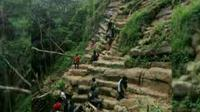 Batu berundak mirip candi ditemukan di sekitar lokasi longsor Purworejo, Jawa Tengah. (Istimewa/Edhie Prayitno Ige)