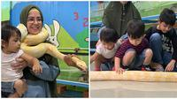 Dililit Ular Saat Gendong Anak, Ini 5 Momen Risty Tagor Main dengan Hewan (sumber:Instagram/ristytagor)