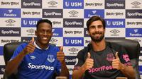 Everton resmi mendatangkan Yerry Mina dan Andre Gomes dari Barcelona. (Twitter Everton)