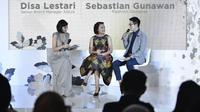Sebastian Gunawan berkolaborasi dengan Aqua Reflections untuk desain botol kaca yang stylish. (Foto: Dok. Aqua)