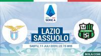 Serie A - Lazio Vs Sassuolo (Bola.com/Adreanus Titus)