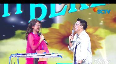 Michelle Ziudith dan Ariel NOAH dalam acara Badai Pasti Berlalu & Keajaiban Cinta Special Launching.
