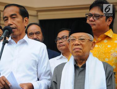 Bersama Ketum Parpol, Jokowi Jelaskan Hasil 12 Lembaga Survei