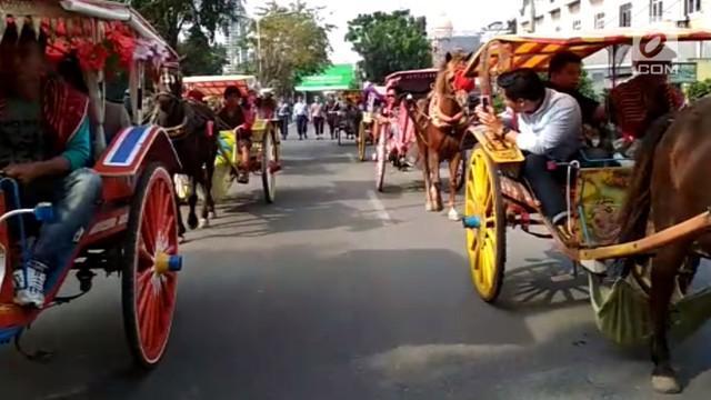 Panitia upacara adat Kahiyang-Bobby di Medan menggelar gladi kotor kirab pengantin dan keluarga.