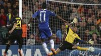 Chelsea yang ditangani Roberto Di Matteo unggul agregat 1-0 lewat gol Didier Drogba pada pertandingan semifinal Liga Champions 2011-12.