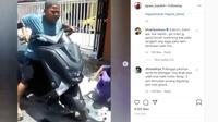 Bocah pengendara NMax mengalami insiden. (Instagram @agoez_bandz4)