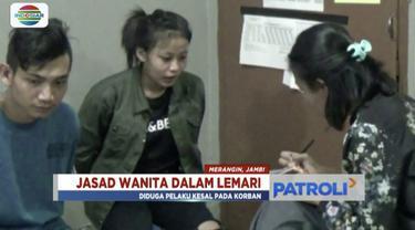 Polres Merangin tangkap sepasang kekasih yang membunuh seorang wanita hingga memasukkannya dalam lemari kamar kos.