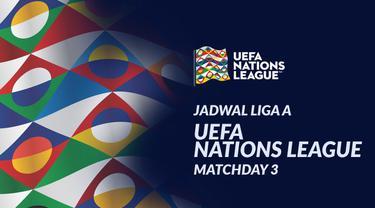 Berita motion grafis jadwal UEFA Nations League Liga A matchday ketiga. Prancis ditantang Portugal pada Senin (12/10/2020) di Stade de France, Saint-Denis, Prancis.