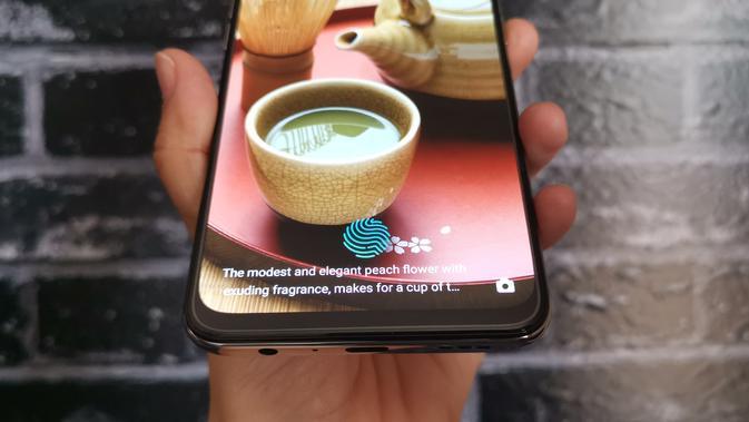 Tampilan fitur pemindai sidik jari Realme X (Foto: Andina Librianty/Liputan6.com)