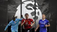 Mario Balotelli, Jogn Terry dan Roy Keane. (Bola.com/Dody Iryawan)