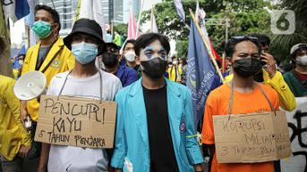 FOTO: Aksi BEM SI Tuntut Pembatalan Pemecatan 57 Pegawai KPK