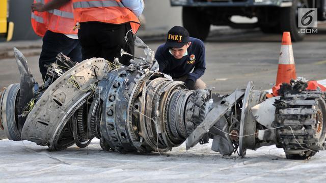 Penampakan Mesin Turbin Pesawat Lion Air JT 610